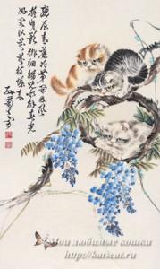 Изображение кошек в Японии